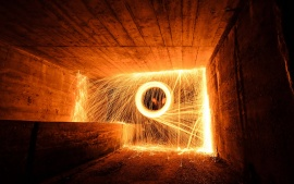 4K Spinning Fire with Steel Wool