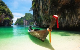 Boat On Phuket Islands Thailand
