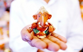 Cute God Ganesha Wide