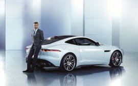 David Beckham And White Jaguar XJ R