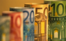 Euro Banknotes Money Close-Up
