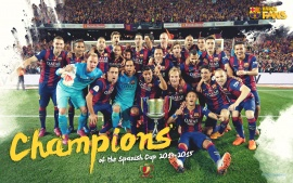 FC Barcelona 2015 Champions League Winners