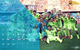 FC Barcelona June 2015 Calender (click to view)