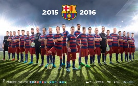 FC Barcelona Squad 2015-16 Football Team