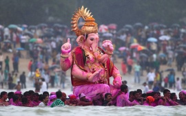 Ganesha Chaturthi Vishrjan HD Wallpapers