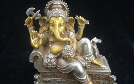 Ganpatiji Silvar Gold Hd Beautiful Wallpaper