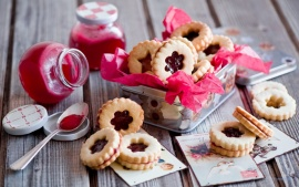 Jam jelly cookies