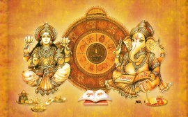 Labh Subh With Ganesha Beautiful Desktop HD Wallpapers