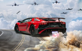 lamborghini aventador lp 750 4 superveloce after space HD