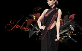 Latest Amy Jackson Black Sari  Pictures