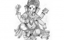 Lord Ganesha Painting Normal