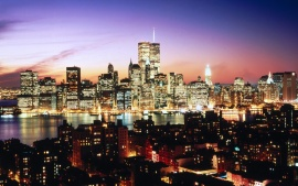 Lower Manhattan as seen over Brooklyn Heights, New York (click to view)