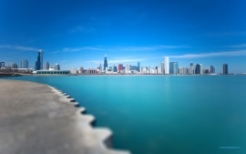 Michigan Chicago City Blue Lake