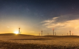 Moonrise Windmills