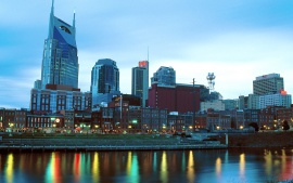 Music City at Dusk, Nashville, Tennessee