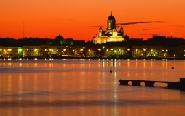 Orange Twilight, Helsinki, Finland