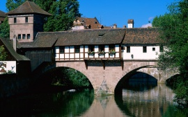 Pegnitz River, Nuremberg, Bavaria, Germany