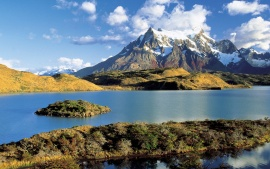 Pehoe Lake, Torres Del Paine, Chile