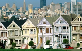 Postcard Row, San Francisco, California