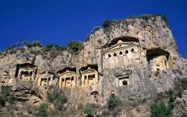 Rock Tombs, Dalyan, Turkey (click to view)