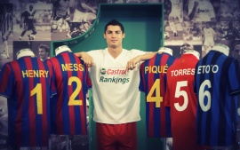 Ronaldo Castrol Photoshoot With Messi Fcb T Shirts