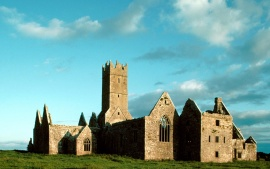 Ruins of Ross Abbey, Franciscan Friary, Founded in 1357, Headford, Ireland