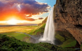 Seljalandsfoss Waterfall Iceland (click to view)
