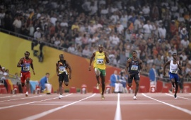 Usain Bolt Running For Medal X