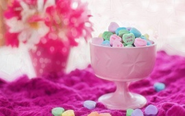 valentine love hearts candies