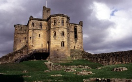 Warkworth Castle, Northumberland, England