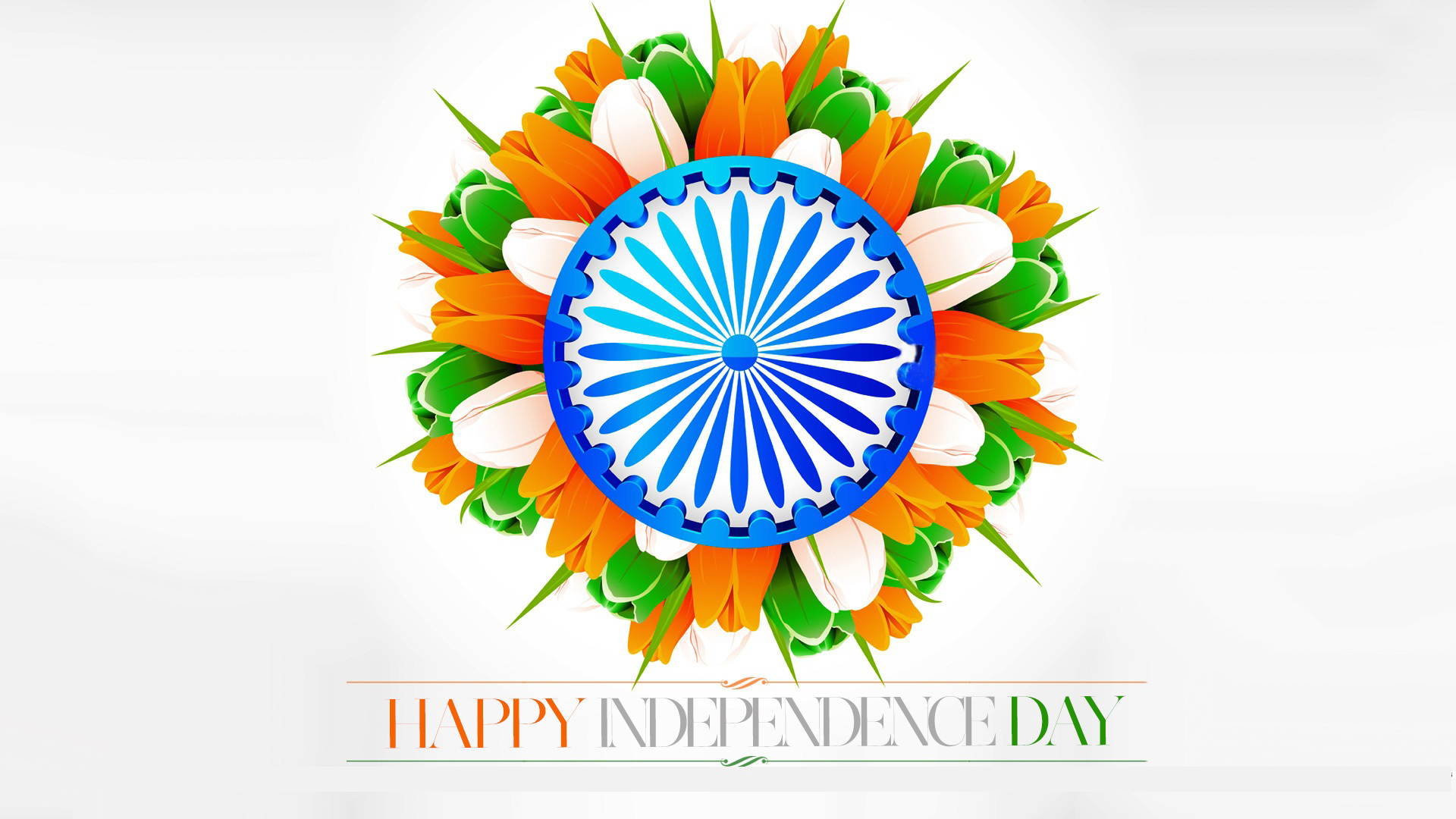 Flower With Indian Flag Hd: 15 August Wallpapers