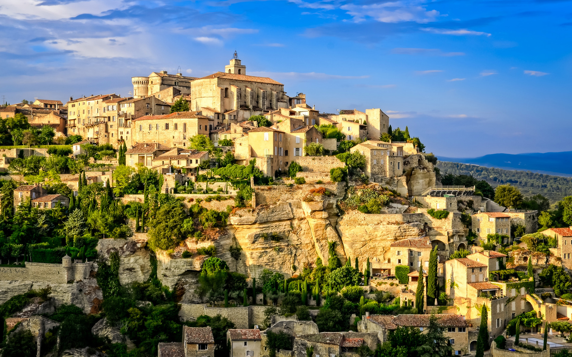 gordes old village provence wallpapers
