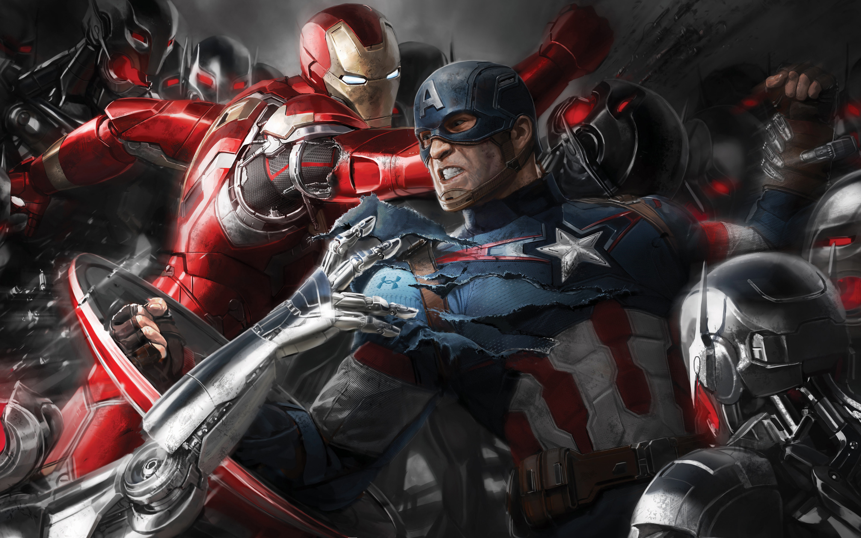 Iron Man & Captain America In Avengers wallpapers