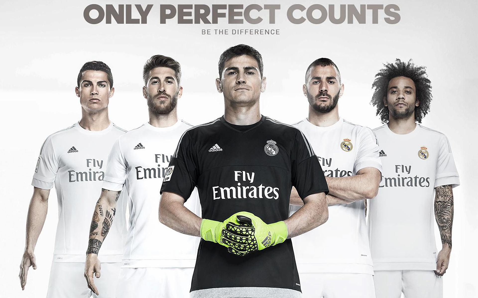 Real madrid cf 2015 2016 adidas home kit wallpapers for Wallpaper 2016 home