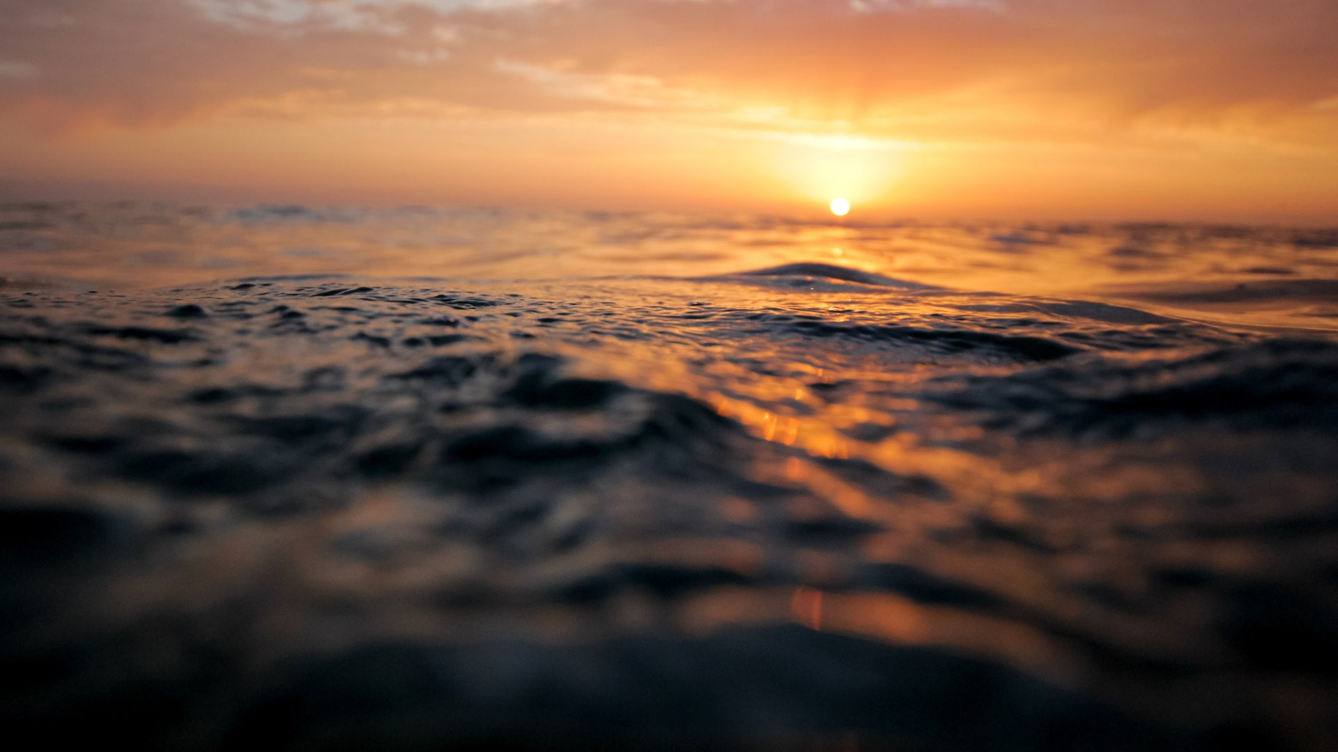 sunset and ocean waves wallpapers