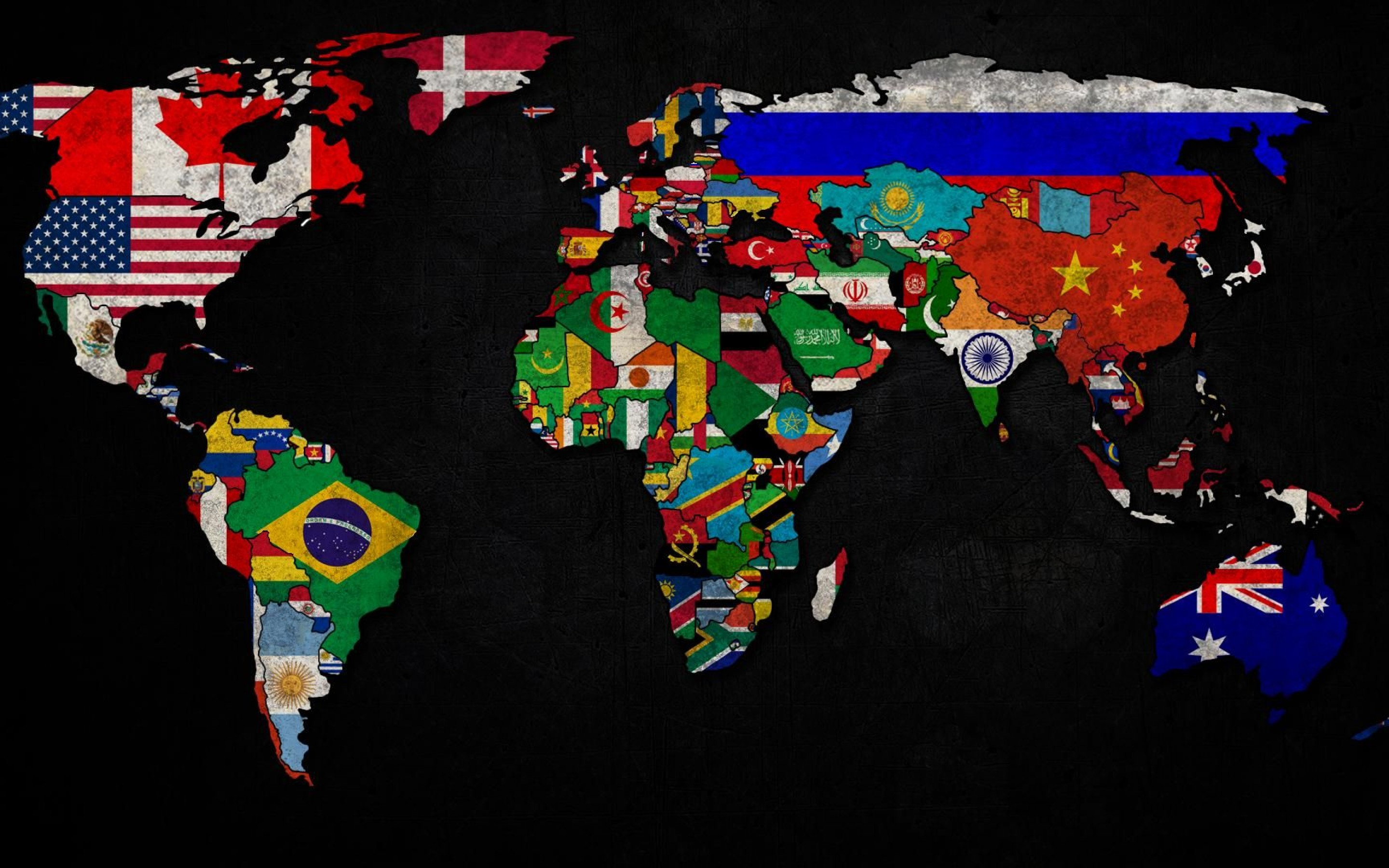 World Flag Map wallpapers