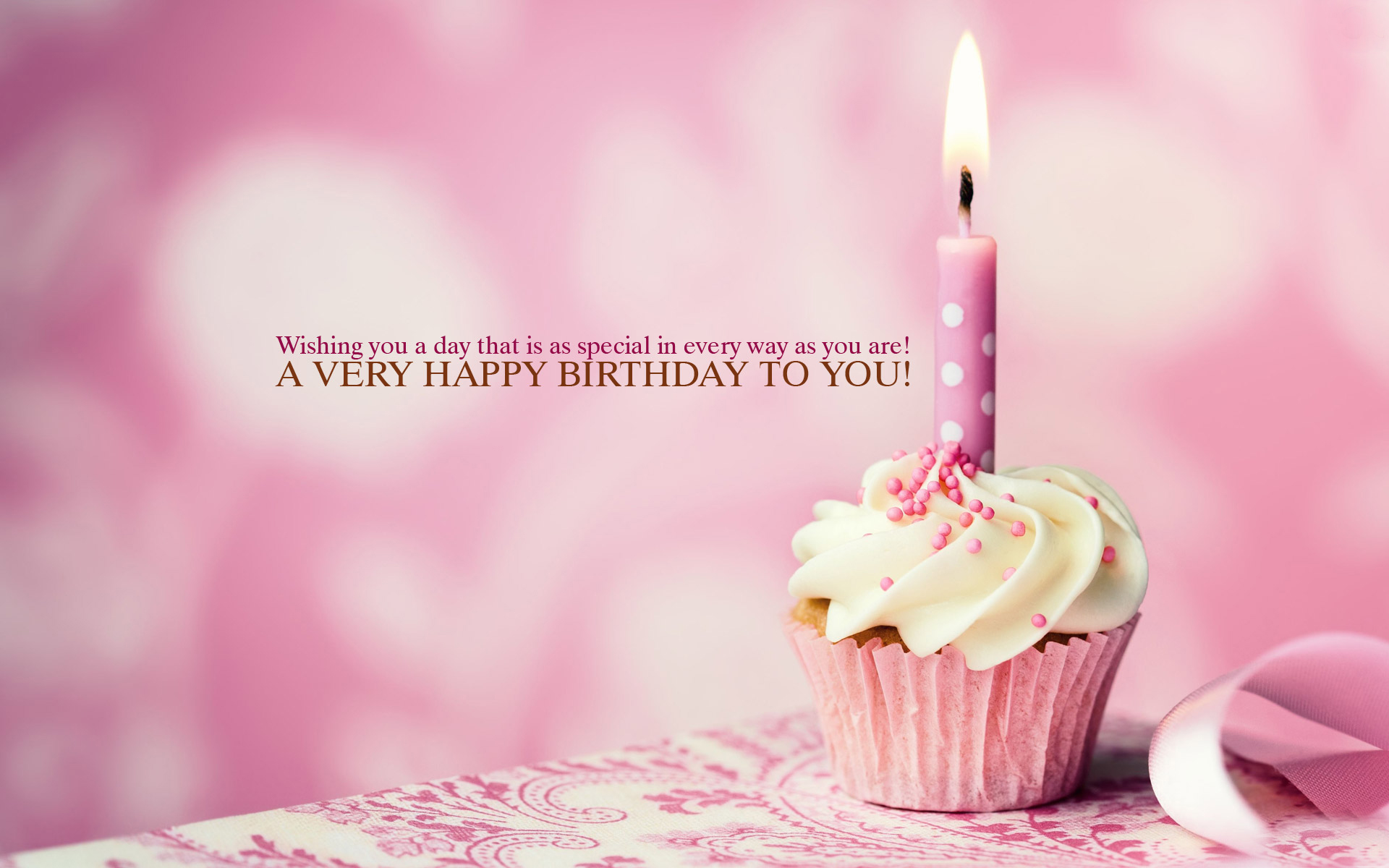 pink happy birthday cupcake wallpapers