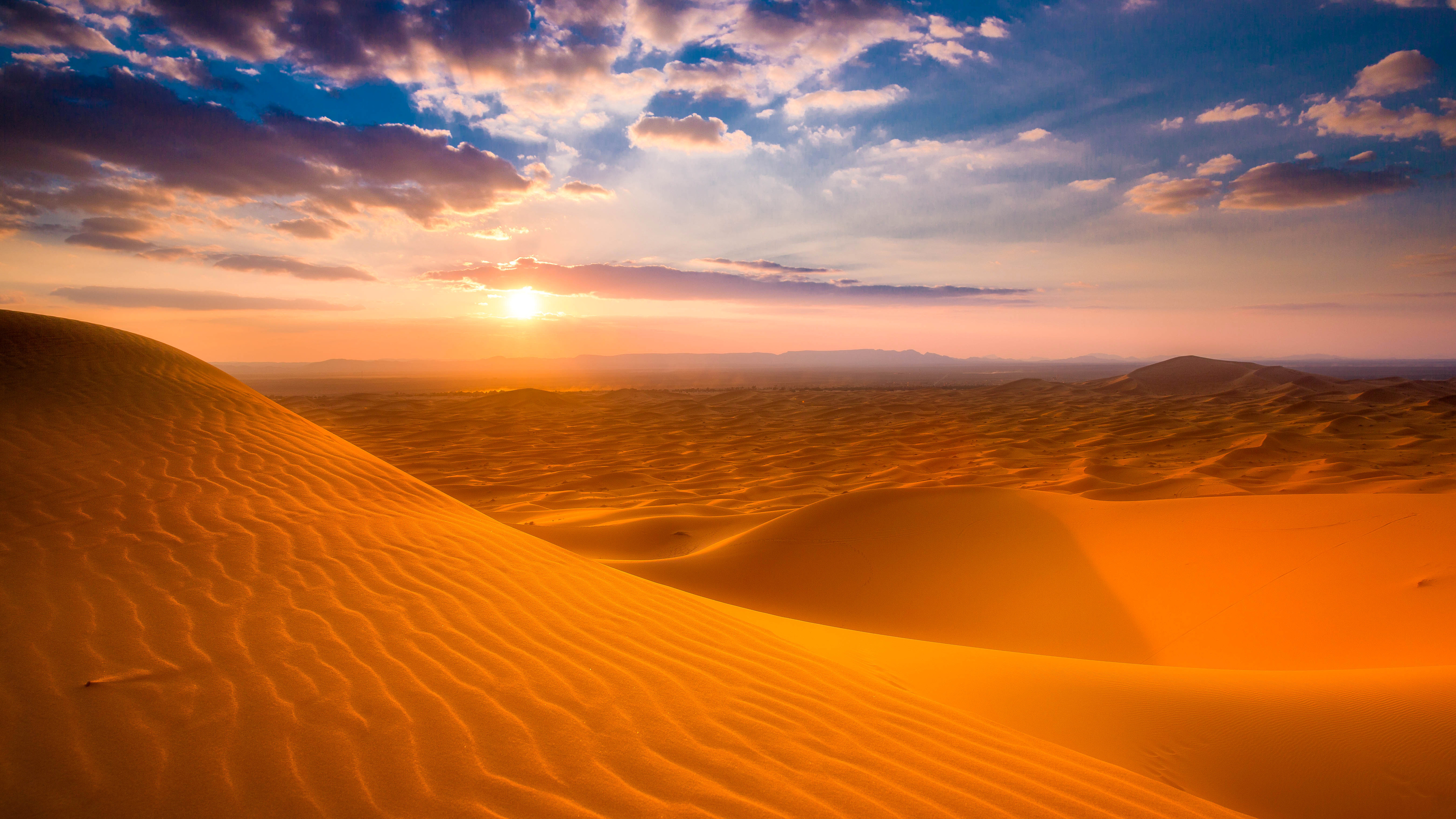 Sahara Desert Sunset Wallpapers