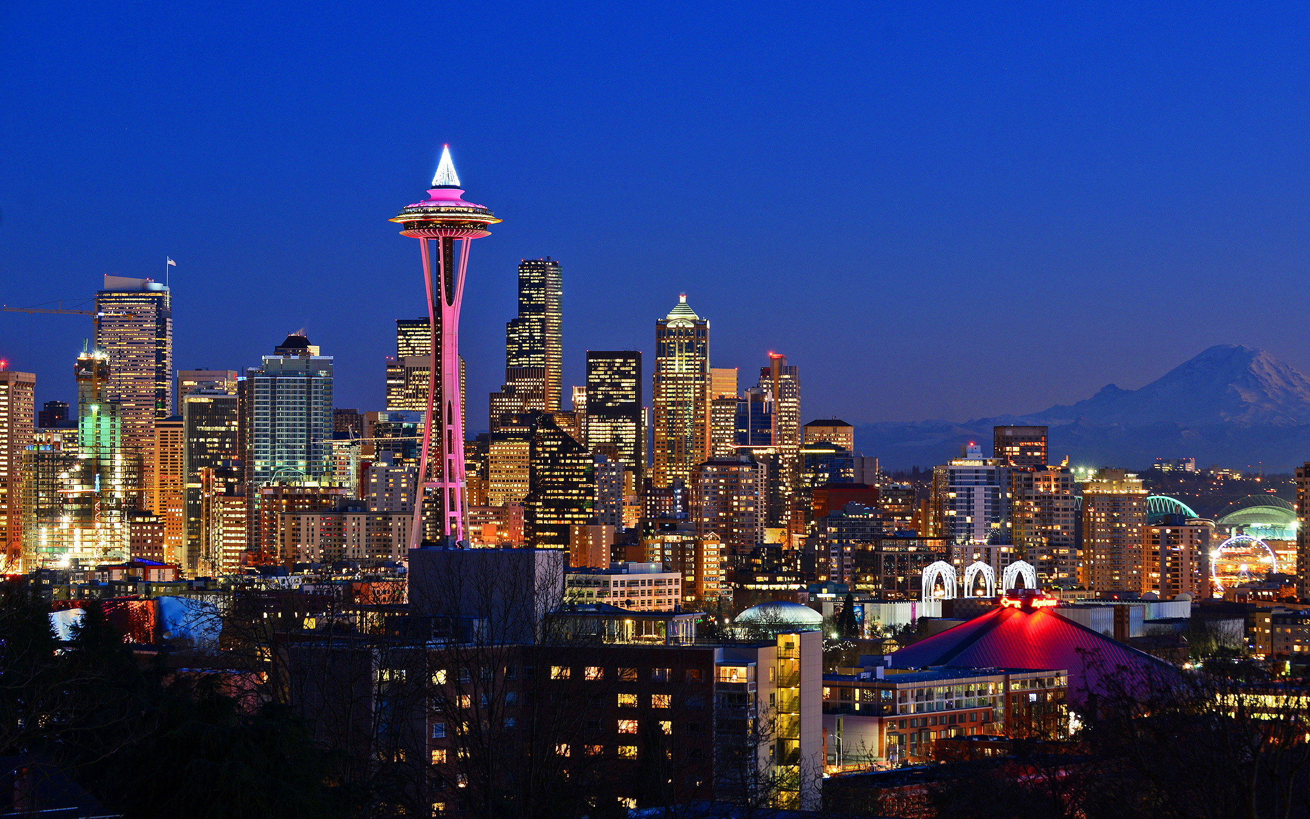 seattle night wallpapers